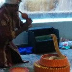 インド人?蛇使いを初めて見ました