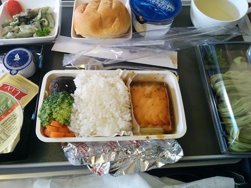 SQの機内食(行きの和食)