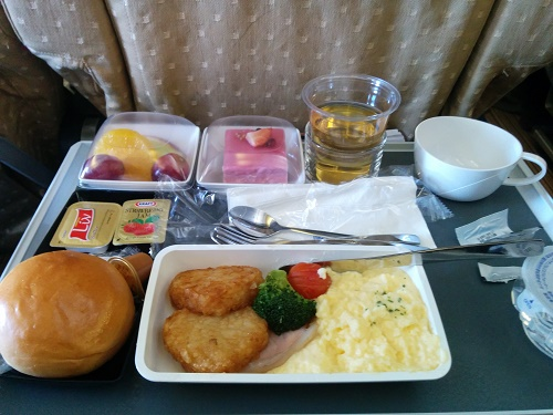 SQの機内食(帰りの洋食)