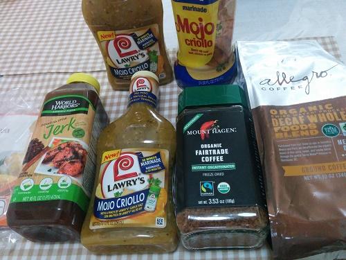 アメリカ土産:モホソース、ジャークチキンソース、デカフェ、粉末インスタント調味料