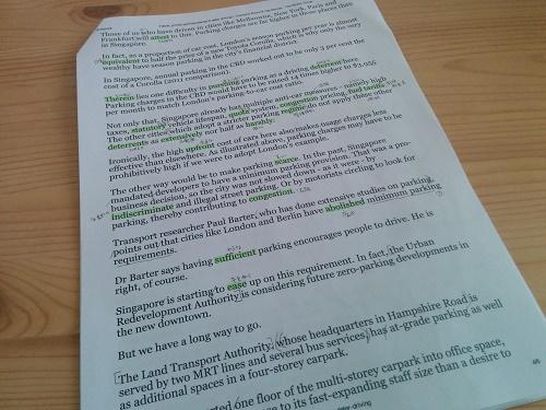 課題の英語ニュース