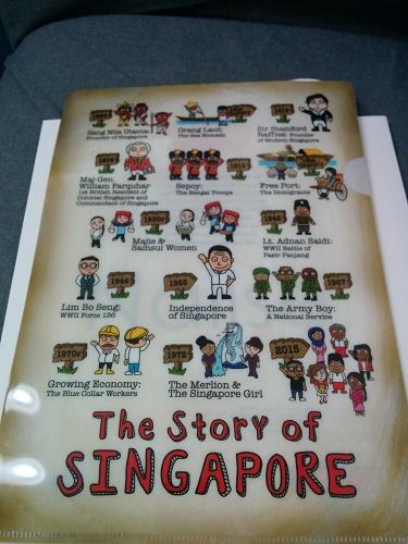 シンガポールの歴史が描かれたクリアフォルダ