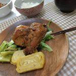 夕食の鶏料理