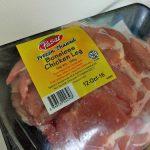 解凍の鶏もも肉