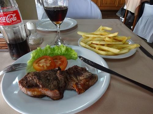 ウルグアイで食べたステーキ