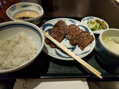 ねぎしの牛タン定食