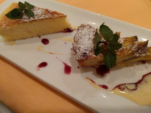 チーズケーキとサツマイモのタルト
