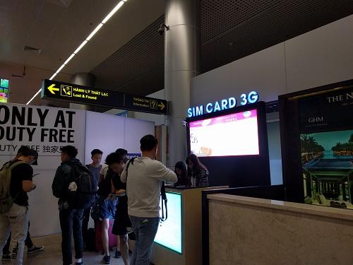 ダナン空港でプリペイドSIMを購入