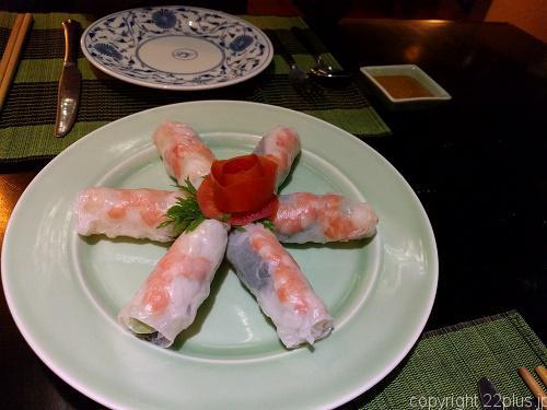 ベトナム料理「Lam Vien Restaurant」生春巻き