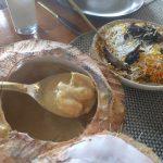 Mustardのココナツ海老カレーと野菜ビリヤニ