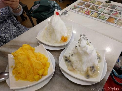 チャイナタウン味香園のかき氷