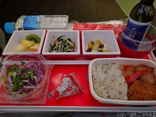 JAL帰りの機内食