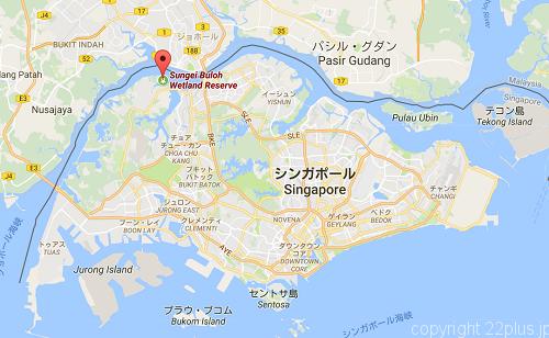 スンゲイブロウ湿地保護区の場所(地図データ(c)Google)