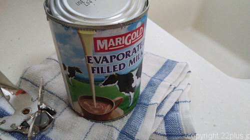 エバミルクの缶(無糖版)