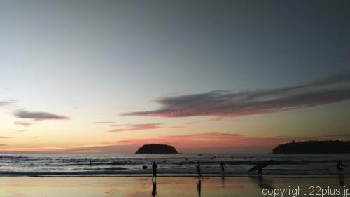 カタビーチの夕暮れ