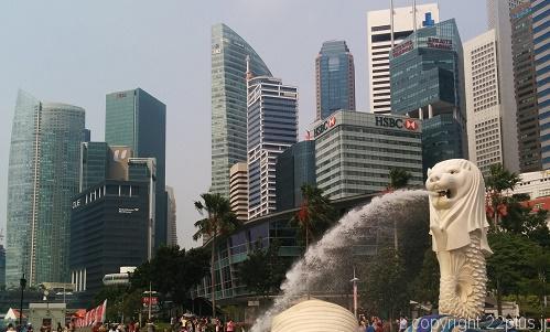 シンガポールで一番有名なマーライオン