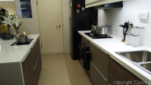 5部屋タイプはキッチンも広々、アイランド型
