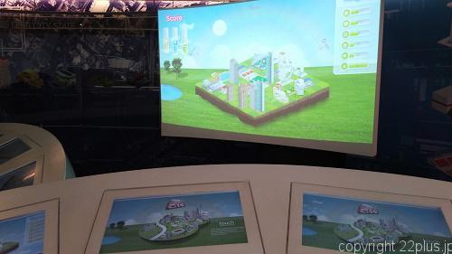 シンガポール国土にインフラを配置していくゲーム