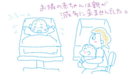 お隣の赤ちゃんは親が滅多に来ませんでした