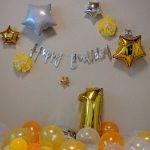 初めてのお誕生日の飾りつけ
