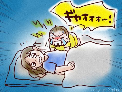 夜中にヨーちゃんが雄たけびを上げていました