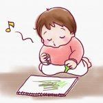 1歳6か月健診をきっかけに家でもお絵かきを始めました